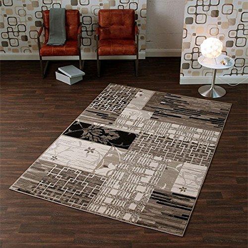 Design velours tapijt structuur zwart grijs | 102194