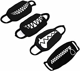 GOOTRADES Set of 4 Teeth Pattern Unisex Cotton Blend Anti Dust Face Mouth Mask