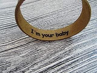 Personalized Hidden Message Bracelet,Custom Engraved Leather Bracelet,Personalized Leather Cuff,Secret Message Bracelet,Mens Bracelet,Womens Bracelet