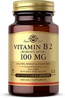 Solgar Vitamina B2 (Riboflavina) 100 mg Cápsulas vegetales - Envase