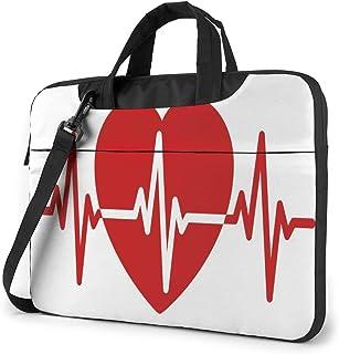 "Red Heart Laptop Bag Protective Case Computer Messenger Briefcase Women Men 13"""