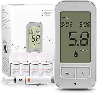 FJLOVE Medidor de glucosa en Sangre/Glucosa en Sangre Kit de Control de la Diabetes Kit con 50 Tiras reactivas sin código y 50 lancetas para diabéticos,en mmol/L