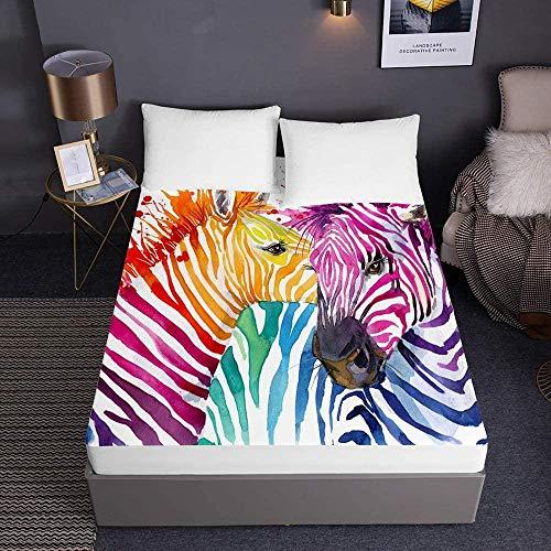 3D Animal hoeslakens voor eenpersoons tweepersoons kingsize bed 3D beddengoed lakens diepe zak 30 cm - zachte microfiber gemakkelijk te onderhouden-180x200x30cm_4