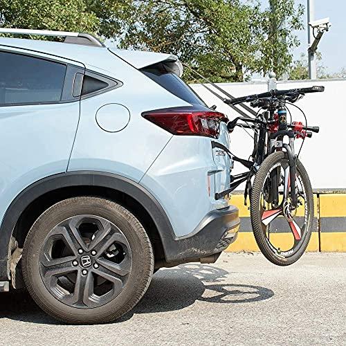 Blueshyhall Portabicicletas trasero con correas para 1-2 bicicletas