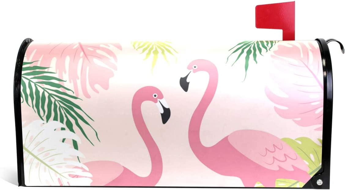 senya Regular store Home Garden Cute Tropical Flamingos Mailb Magnetic All items in the store Pattern