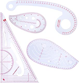 niumanery 4pcs//Set Multi Styling Design Drawing Comma Line Triangle French Curve Rulers Sewing Tailor Craft