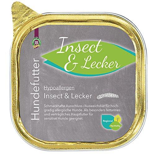 Schecker Hypoallergen Insect & Lecker 12 x 200 g besonders fettarmes und verträgliches Hauptfutter für Sensitive Hunde geeignet Nassfutter Hundefutter