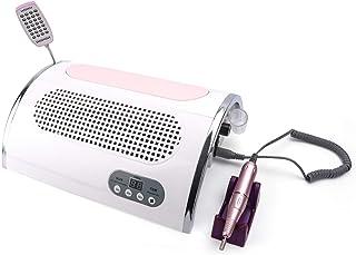 CDFCB Máquina De Uñas 72W Multifunción Fototerapia Arte De Uñas Pulido Vacío Lámpara De Uñas USB Recargar Trae 2 Bolsa De Polvo Ventilador De Succion, Uñas Arte De Uñas Salón Limpiar Equipo