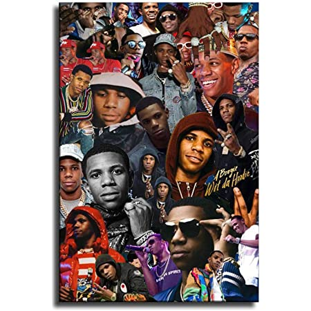 T-60 A Boogie Wit Da Hoodie The Bigger Rapper Music Album 20 24x24 Poster