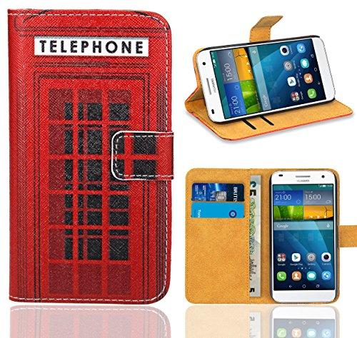 Huawei Ascend G7 Handy Tasche, FoneExpert® Wallet Hülle Flip Cover Hüllen Etui Ledertasche Lederhülle Premium Schutzhülle für Huawei Ascend G7 (Pattern 12)