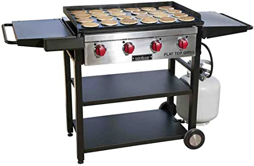 Camp-Chef-Flat-Top-Grill,-True-Seasoned-Griddle-Surface