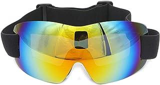 Pc Ski Snowboard Snow Goggles Magnet Dual Layers Lens Spherical Design Anti Fog Uv Protection