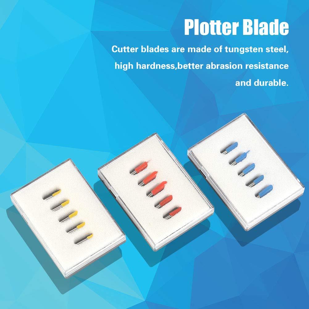 15 pcs cuchillas para moda-colgante Vinilo 30/45/60 grados, cortador para Vinilo Roland, repuesto Hoja para plotter de corte con soporte para piezas GCR cricut: Amazon.es: Bricolaje y herramientas