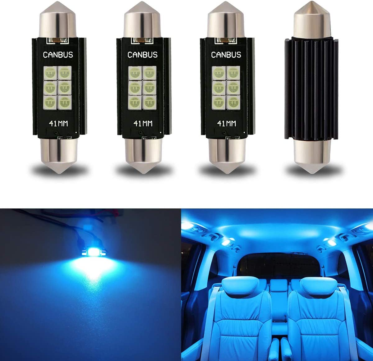 iBrightstar Newest 9-30V Extremely Bright 211-2 212-2 578 Festoon LED Bulbs Error Free 1.61