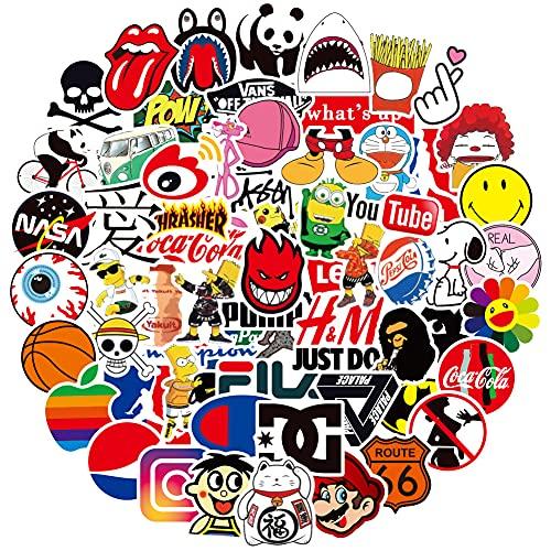 RGBEE Trend Aufkleber 100 Stücke, Wasserfeste Vinyl Sticker Set für Laptop, Koffer, Helm, Motorrad, Skateboard, Snowboard, Auto, Fahrrad, Computer, Graffiti Sticker