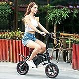 Wireless Smart E-Bike 350W 36V Folding Electric Bicycle with 12 Mile Range Cruise Control/APP Speed Setting (Black-6AH)