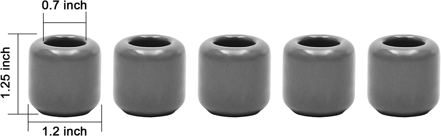 Spells Vigil Wiccan Supplies /& More Gray Great for Casting Chimes Rituals 5 pcs Ceramic Chime Candle Holder Set Witchcraft