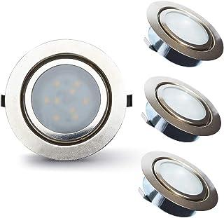 Lampaous - Juego de 3 lámparas LED regulables, blanco cálido 6.00watts 230.00volts