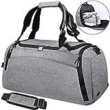 Bolsa Deporte Bolsa Gimnasio de Viaje Impermeable Bolsos Deportivos Fin de Semana Travel Duffle Bag para Hombre y Mujer Negro (gris)