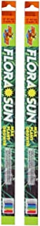 (2 Pack) Zoo Med Coral Flora Sun Plant Growth Bulb T8 15 Watts, 18-Inch