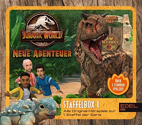 Jurassic World - Neue Abenteuer: Alle Original-Hörspiele zur 1. Staffel (Folge 1 - 8) - [Hörspiel-Staffelbox mit 3 CDs]