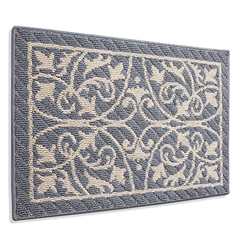 """DEXI Door Mat Entry Indoor Floor Mats Inside Doormat Front Entrance Rug Machine Washable,19.5""""x31.5"""",Gray"""