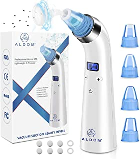 Blackhead Remover Vacuum - Facial Pore Cleaner Electric Blackhead Vacuum Pimple Sucker Blackhead Removal Acne Comedone Extractor Kit Suction Tool Device for Facial Skin Women & Men