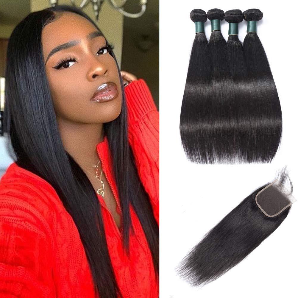 Great Boston Mall Super intense SALE Grace Straight Hair Bundles Closure Part Unproce Free with