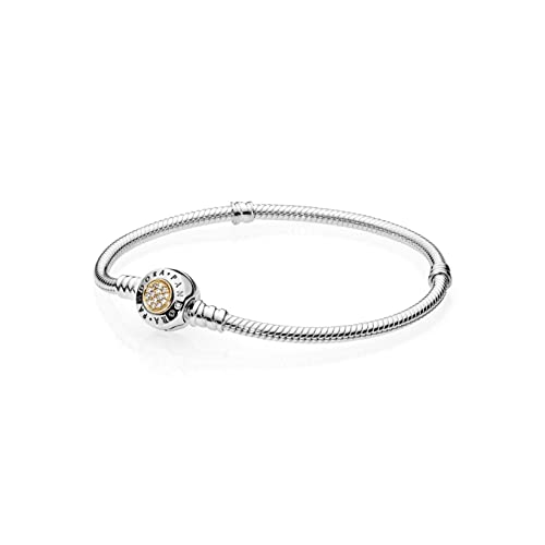 19e9c4b0f PANDORA 590741CZ Signature Two-Tone Bracelet