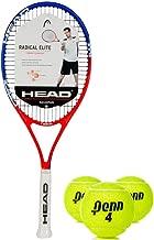 HEAD Ti Radical Elite Blue/Red Tennis Racquet Kit or Set Bundled with (1) Can of Penn Tennis Balls