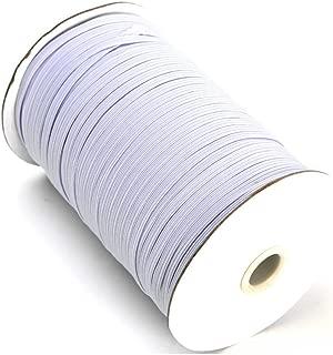144 Yard Braided Elastic, Springy Stretch Braided Elastic Cord Elastic Band (White, 1/4 Inch)