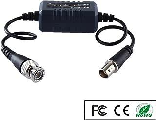 OdiySurveil (TM) HD CVI/TVI/AHD Coaxial Video Ground Loop Isolator built-in Surge Protection Video Balun