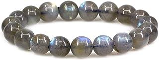 Keleny Gem Semi Precious Gemstones 10mm Round Beads Stone Crystal Stretch Bracelets Unisex