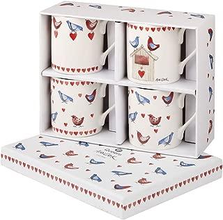 Alex Clark Lovebirds Set of 4 Mugs