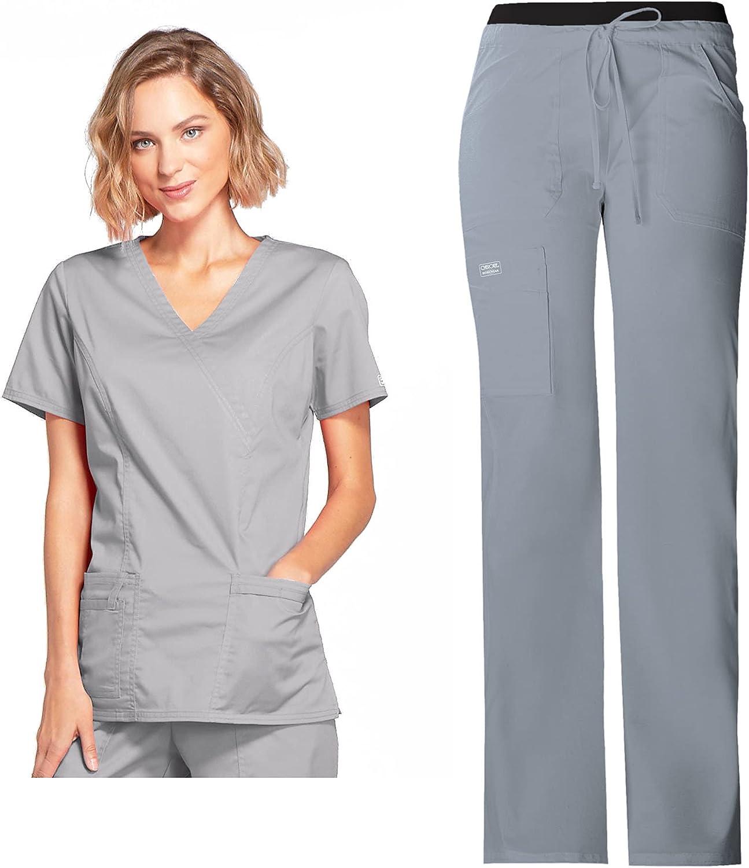 CHEROKEE Workwear Women's Core Stretch 4728 Top Fees free!! Max 72% OFF Scrub Mock Wrap