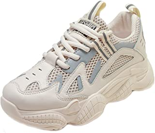BeiaMina Women Leisure Sneakers Lace Up Thick Bottom