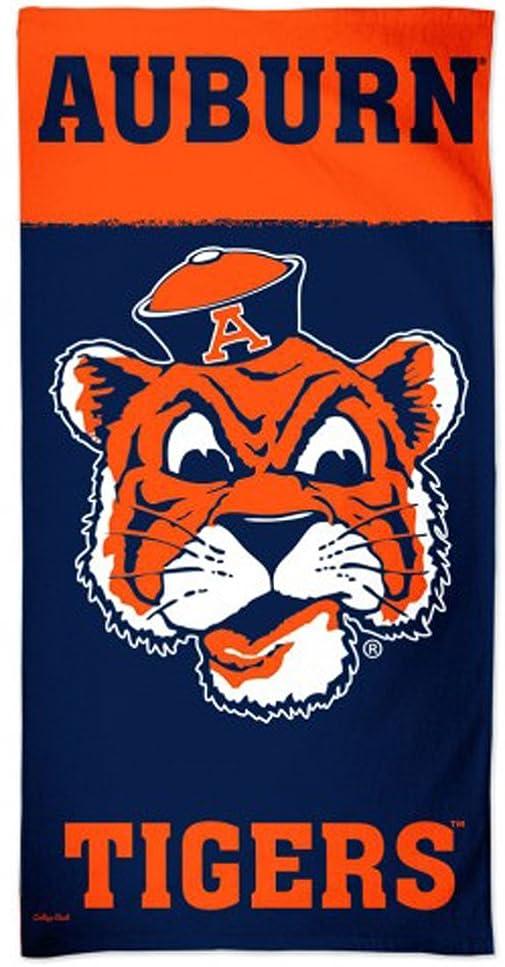 維持主観的考えるWinCraft Auburn University Tigersビーチタオル、レトロカレッジVault Edition withプレミアムSpectraグラフィックス、30?x 60?cm