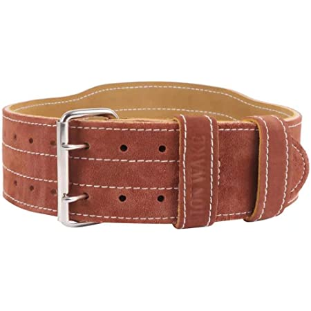 """AQF Cow Hide Leather Belt 4/"""" Weight Lifting Back Support Training Support Medium"""
