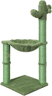 PaWz Cactus New Cat Trees Scratching Post Tower Condo Hammock Scratcher Green