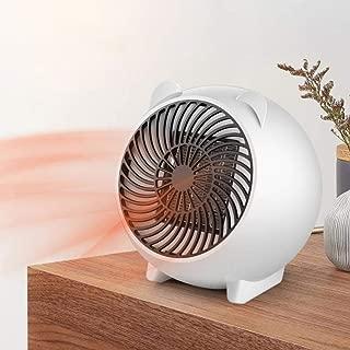 Ugthe Mini 500W Home Office Desktop PTC Ceramic Heating Electric Heater Fan Air Warmer - WhiteUS Plug