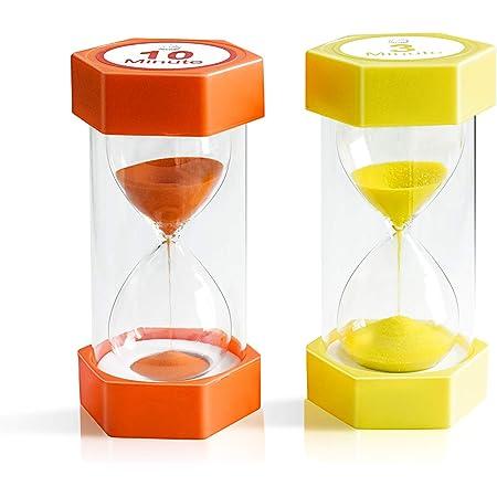 2Pcs Mini Sandglass  Sand Timer Hourglass Kids Brushing Teeth 3 Minute