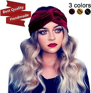 Women's Turban Headband Velvet Headwraps 3-Pack Twist Hair Bands Boho Autumn Fall & Winter Accessories