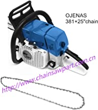 OJENAS MS 381 038 380 Gasoline Power Chain Saw 72.2cc 3.9KW with 25