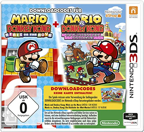 Mario and Donkey Kong: Minis on the Move und Mario vs. Donkey Kong: Die Rückkehr der Mini-Marios! [Download-Code, kein Datenträger enthalten]