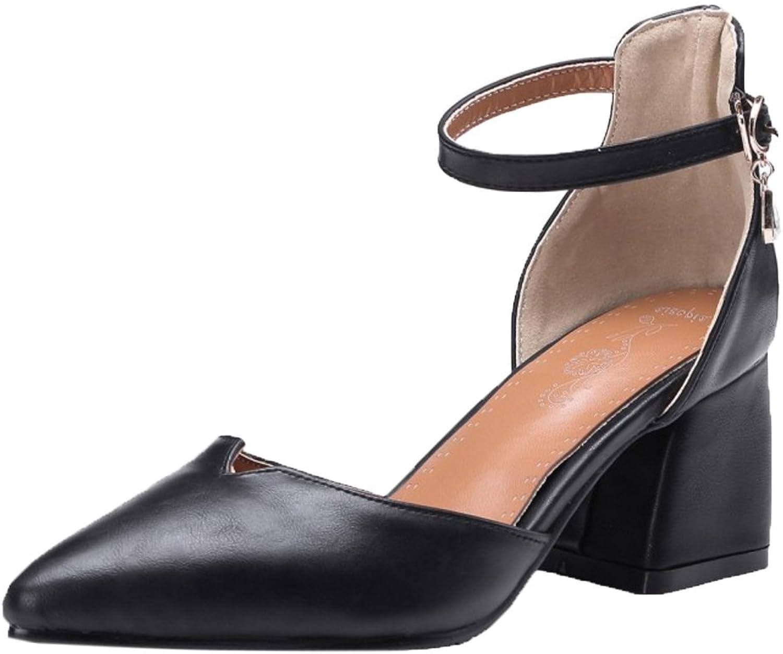 KemeKiss Women Thick Heel Sandals Pointy