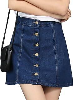 (ピーキー)Peigeeデニムスカート 台型スカート ミニスカート ショートスカート カジュアル 大きいサイズ レディース 女性 女の子 フロント ボタン カジュアル 春 夏 秋 ひざ 丈 膝上 美脚