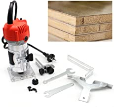 Laminador de madera de 220V 580W herramienta de ensamblado de sierras de corte de borde de enrutador de recortador manual de 1//4 20 x 9 x 8.3cm enchufe 30000R // MIN UK