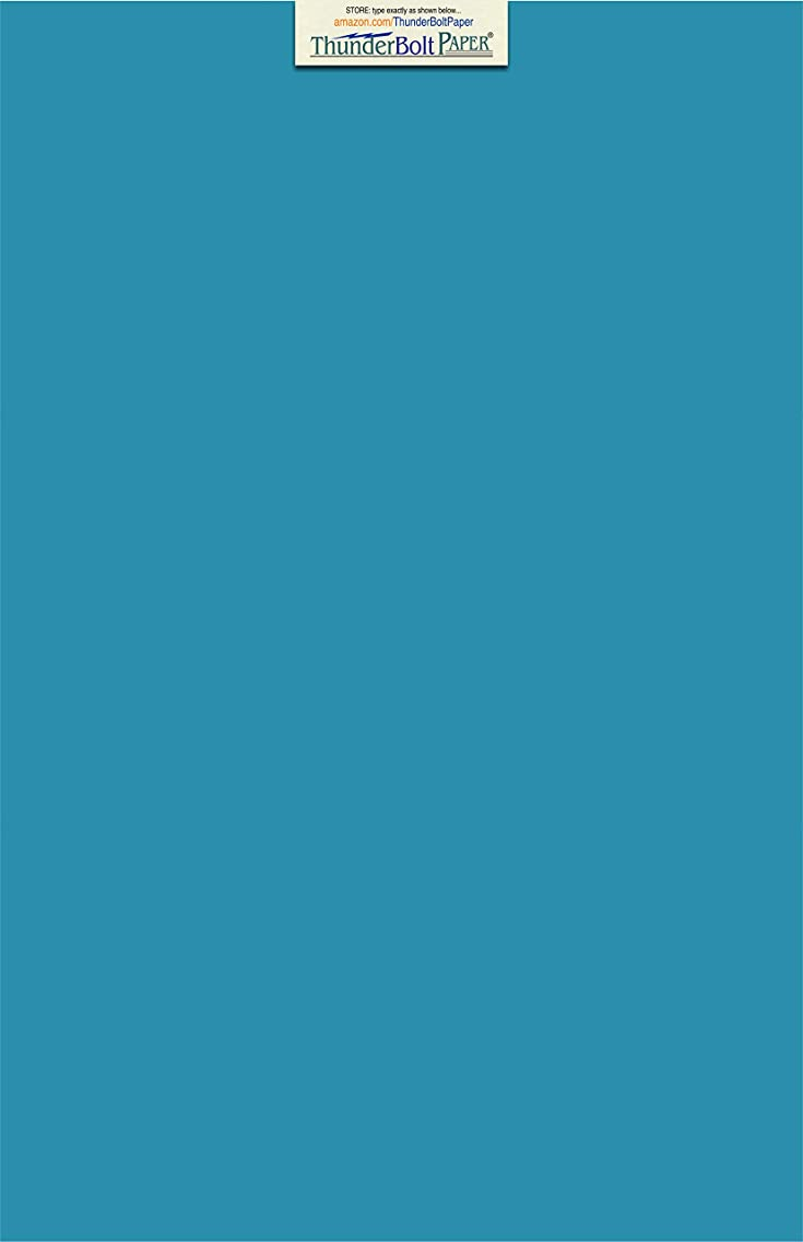 50 Bright Aqua Blue Cardstock 65lb Cover Paper 11 X 17 Inches Colored Sheets Tabloid or Ledger Size - 65 lb/pound Light Weight Cardstock - Quality Smooth Paper Surface