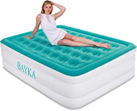 BAYKA Queen Air Mattress with Built in Pump, Durable Blow Up Inflatable Mattresses for Guests, Raised 18'' Double High Airbed for Home Travel, 80x60x18inches