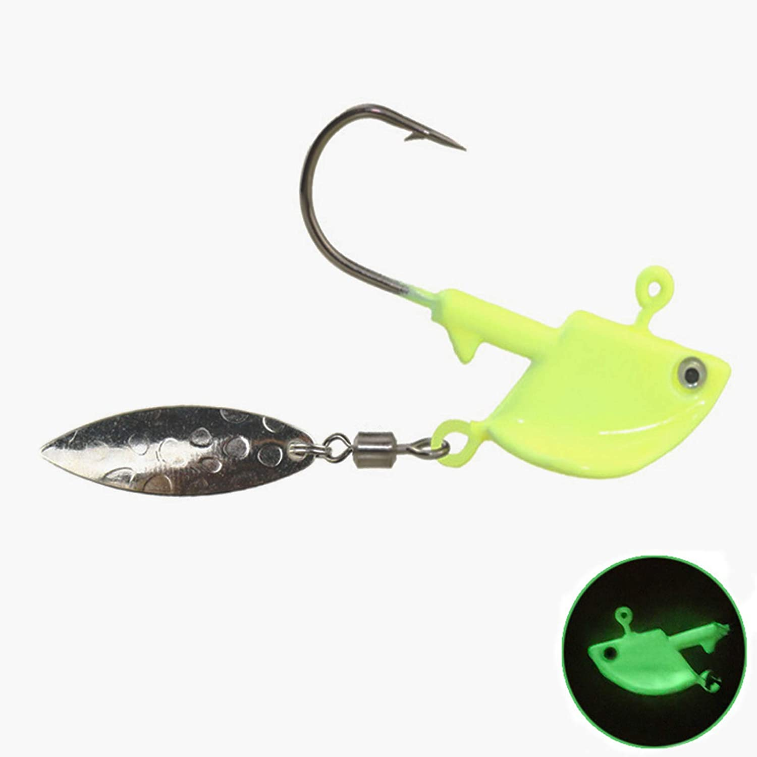 Glow Jig Heads Mail order cheap with Spinner Hooks Accessories New products, world's highest quality popular! Lures Fishing Jigs